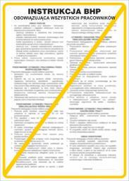 ANRO Tabliczka Instrukcja obowiązująca wszystkich pracowników (IB01/P)