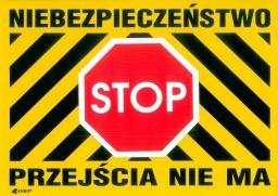ANRO Tabliczka ostrzegawcza Niebezpieczeństwo Stop Przejścia nie ma 250 x 350mm (B28/L/P)
