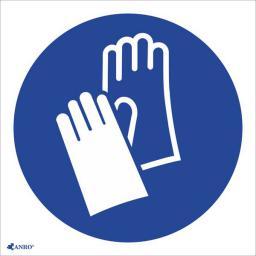 ANRO Tabliczka Stosuj ochronę rąk z podpisem (IM1/C1/F)
