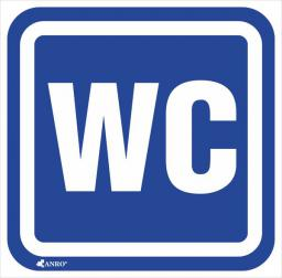 ANRO Tabliczka Oznaczenie WC 100 x 100mm (61/H/F)