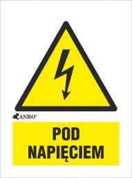 ANRO Tabliczka ostrzegawcza Pod napięciem 148 x 210mm (2EOA/Q4/F)