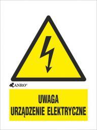 ANRO Tabliczka Uwaga urządzenie elektryczne 52 x 74mm (10EOA/Q1/F)