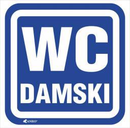 ANRO Tabliczka Oznaczenie WC damski 100 x 100mm (63/H/F)