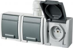 Elektro-Plast Gniazdo potrójne AQUANT z/u 3x2P+Z IP65 (1243-65)