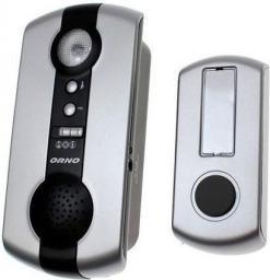 Orno Dzwonek bezprzewodowy bateryjny 1,5V IP44 zasięg 120m 16 melodyjek 60dB POP DC (OR-DB-QH-107)