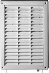 AWENTA Kratka wentylacyjna biała z żaluzją i siatka 128 x 197mm (T59)