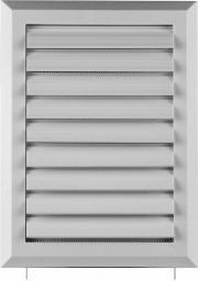 AWENTA Kratka wentylacyjna biała z żaluzją siatką i rozpieraczem 130 x 192mm (T41)