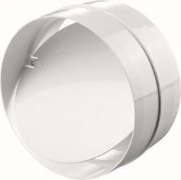 Vents Łącznik kanałowy okrągły z zaworem zwrotnym biały 150mm (694)
