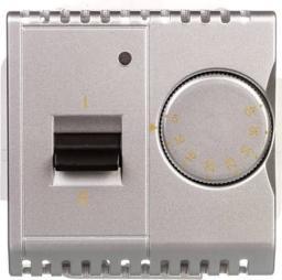Kontakt-Simon Simon Basic Regulator temperatury z czujnikiem wewnętrznym 16A 230V srebrny mat (BMRT10w.02/43)