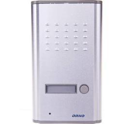 Orno Zestaw domofonowy jednorodzinny z interkomem FOSSA INTERCOM biały/ srebny (OR-DOM-RL-902)