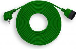 Elgotech Przedłużacz ogrodowy OMY 1 gniazdo b/u zielony 20m (PK-1020-7)