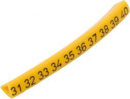 Ergom Oznacznik przewodów OZ-1 / 31-40 żółty 100szt. (E04ZP-01020201400)