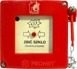 Promet Przycisk ppoż. natynkowy 1Z 1R czerwony z młotkiem bez sygnalizacji IP55 (W0-ROP-AM0K XY)