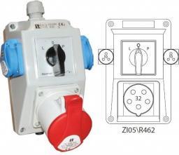 Spamel Zestaw instalacyjny z gniazdem 32A 3P+N+PE 2x2P+PE (ZI05R462)
