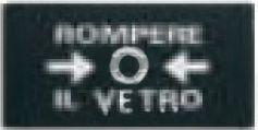 Elettrocanali Plakietka do przycisku ppoż. czerwony (EC64402)