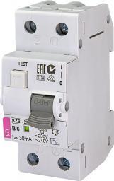 Eti-Polam Wyłącznik różnicowo-nadprądowy 2P 6A B 0,03A typ AC KZS-2M (002173101)