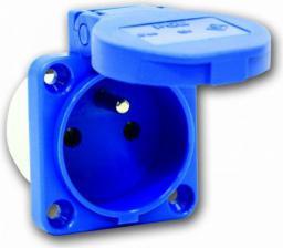 PCE Gniazdo tablicowe 10/16A 2P+Z 230V niebieskie IP44 (104-8b)