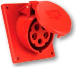PCE Gniazdo tablicowe skośne 32A 5P 400V 80 x 97 czerwone IP44 (425-6f9)