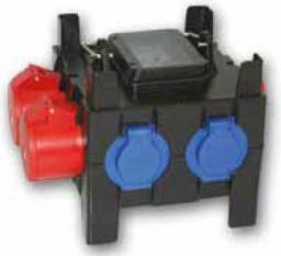 PCE Rozdzielnica przenośna NYSA 2x16A/5P, 3x2P+Z 8 modułów (9030149W)