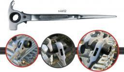 K2 Klucz do rusztowań młotkowy z grzechotką 19x22mm (n-klr02)