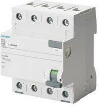 Siemens Wyłącznik różnicowoprądowy 4P 40A 0,03A typ AC (5SV4344-0)