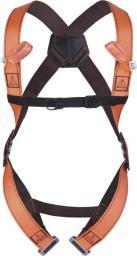 DELTA PLUS Szelki bezpieczeństwa 2 punkty zaczepowe 2 klamry regulujące pomarańczowe rozmiar XL / XXL (HAR12XX)