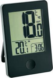 Stacja pogodowa TFA Termometr z zegarkiem od -20 do +60°C bateria 2 x AAA czarny (30.3051.01)
