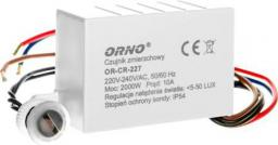 Orno Wyłącznik zmierzchowy z czujnikiem 10A 230V 5-50lx (OR-CR-227)