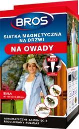 Bros Siatka na drzwi MAGNETYCZNA moskitiera Bros 100x220cm biała (B1600)