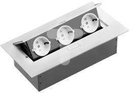 GTV Przedłużacz biurkowy 211x108mm 3x gniazdo SCHUKO  (AE-PB03GS-10)