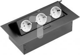GTV Przedłużacz biurkowy 223x108mm 3x gniazdo SCHUKO (AE-PB03GS-20)