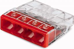 WAGO Złączka uniwersalna 4x2,5mm2 przezroczysto czerwona blister 20szt. (2273-204/0996-0020)