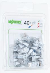 WAGO Złączka Compact 2-przewodowa transparentna / biała blister 40szt. (2273-202/0996-0040)