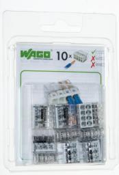 WAGO Złączka Compact 8-przewodowa transparentna / jasnoszara blister 10szt. (2273-208/0996-0010)