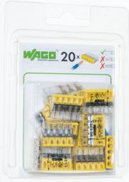 WAGO Złączka Compact 5-przewodowa transparentna / żółta blister 20szt. (2273-205/0996-0020)