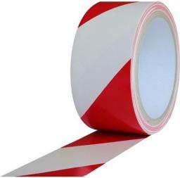 HERMES Taśma ostrzegawcza klejąca bialo - czerwona 50mm x 33m (02178 - 02178)