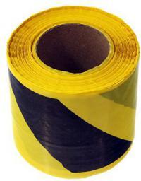 HERMES Taśma ostrzegawcza czarno - żółta 80mm x 100m (02179 - 02179)