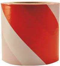 HERMES Taśma ostrzegawcza biało - czerwona 80mm x 100m (HS02084 - 02084)