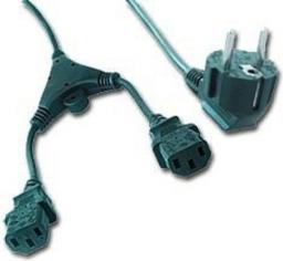 Kabel zasilający Gembird Kabel zasilający Y 2 zasilacze 1,8m (Z05117)