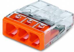 WAGO Złączka uniwersalna 3x2,5mm2 przezroczysto pomarańczowa blister 30szt. (2273-203/0996-0030)