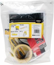 "Folia malarska Modeco 4 x 5m gruba + nóż 18mm + rękawice 10"" + taśma malarska 48mm (MN-05-631P)"