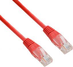 4World Kabel krosowy patchcord U/UTP kat.5e CCA czerwony 5m (04714)