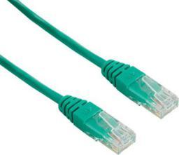 4World Kabel krosowy patchcord U/UTP kat.5e CCA zielony 5m (04726)