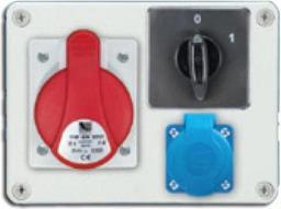 Pawbol Rozdzielnica stacjonarna R-BOX 190 1x16A/5P 1x250V wył. 0/1 IP44 (B.1093W)