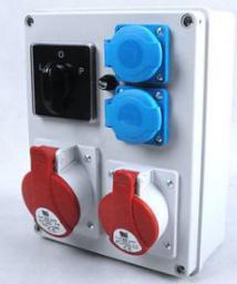 Pawbol Rozdzielnica R-BOX 240 1x32A/5P 1x16A/5P 2x250V, wył. L/P IP44 (B.1095W)