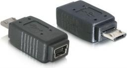 Adapter USB Delock Mini USB-micro USB Czarny (Z09229)