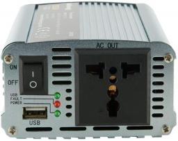 Przetwornica Whitenergy Przetwornica samochodowa DC 12V-AC 230V 350W z USB (06579)