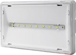 AWEX Oprawa awaryjna EXIT S IP65 LED 1W 1h jednozadaniowa PT biała +PU34 (ETS/1W/ESE/PT/WH)