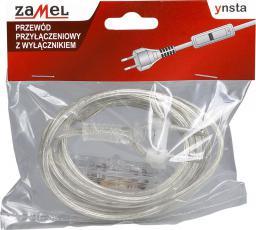 Kabel zasilający Zamel Przewód przyłączeniowy z wyłącznikiem 300cm bezbarwny SP/W-300/2X0,75/WOR-BZB (YNS10000523)