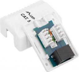 Lanberg Gniazdo teleinformatyczne natynkowe UTP 1xRJ45 kat.5e (OU5-0001-W)
